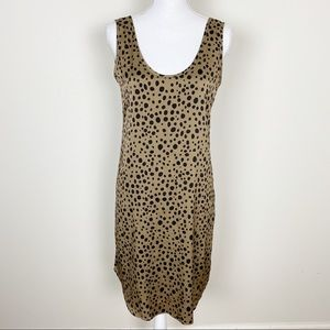 Tucker brown and black polkadot satin dress